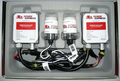 Xenon Express H4 - Ксенон система H4 ксенон+халоген за кола AC тип 35W - 300% светлина, големи баласти, 12 м. пълна гаранция