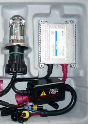EasyLight S1/S2/BA20D - Ксенон система S1/S2/BA20D биксенон за мотор DC тип 35W - 200% светлина, малки баласти, 6 м. пълна гаранция