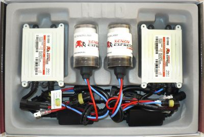 Xenon Express Turbo H13/9008 - Ксенон система H13/9008 само къси за кола AC тип 55W - 450% светлина, малки баласти, 12 м. пълна гаранция