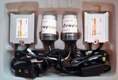 RayTech H4 - Ксенон система H4 ксенон+халоген за кола AC тип 35W - 300% светлина, малки баласти, 24 м. пълна гаранция