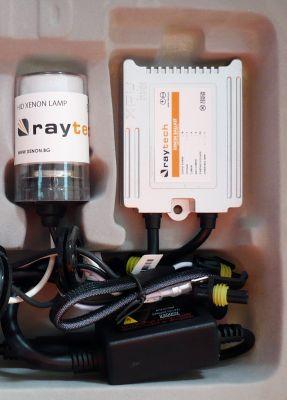 RayTech H4 - Ксенон система H4 ксенон+халоген за мотор AC тип 35W - 300% светлина, малки баласти, 24 м. пълна гаранция