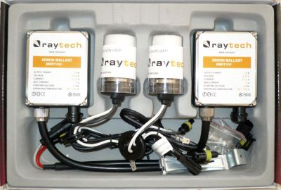 RayTech HB3/9005 - Ксенон система HB3/9005 за кола AC тип 45W - 400% светлина, големи баласти, 24 м. пълна гаранция