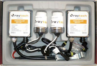 RayTech H4 - Ксенон система H4 ксенон+халоген за кола AC тип 45W - 400% светлина, големи баласти, 24 м. пълна гаранция