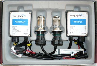EasyLight H4 - Ксенон система H4 биксенон за кола DC тип 35W - 200% светлина, големи баласти, 6 м. пълна гаранция