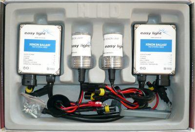 EasyLight H4 - Ксенон система H4 ксенон+халоген за кола DC тип 35W - 200% светлина, големи баласти, 6 м. пълна гаранция