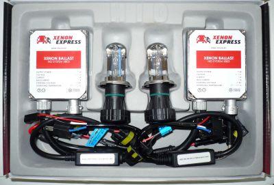 Xenon Express H4 - Ксенон система H4 само дълги за кола AC тип 35W - 300% светлина, големи баласти, 12 м. пълна гаранция