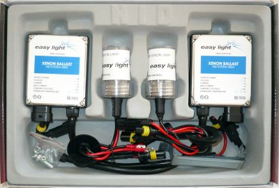 EasyLight HB1/9004 - Ксенон система HB1/9004 ксенон+халоген за кола DC тип 35W - 200% светлина, големи баласти, 6 м. пълна гаранция