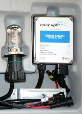 EasyLight H4 - Ксенон система H4 биксенон за мотор DC тип 35W - 200% светлина, големи баласти, 6 м. пълна гаранция
