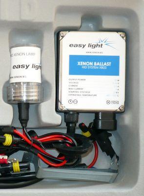 EasyLight H4 - Ксенон система H4 само къси за мотор DC тип 35W - 200% светлина, големи баласти, 6 м. пълна гаранция