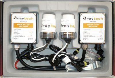 RayTech H4 - Ксенон система H4 ксенон+халоген за кола AC тип 35W - 300% светлина, големи баласти, 24 м. пълна гаранция