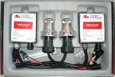 Xenon Express Turbo H4 - Ксенон система H4 биксенон за кола AC тип 55W - 450% светлина, големи баласти, 12 м. пълна гаранция