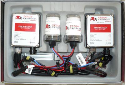 Xenon Express Turbo HB1/9004 - Ксенон система HB1/9004 ксенон+халоген за кола AC тип 55W - 450% светлина, големи баласти, 12 м. пълна гаранция