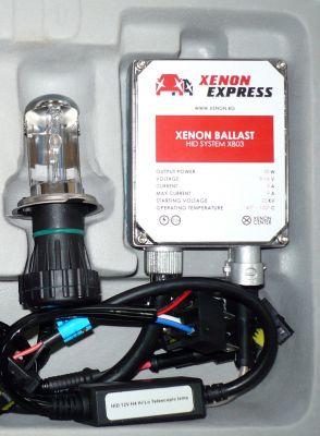 Xenon Express H4 - Ксенон система H4 биксенон за мотор AC тип 35W - 300% светлина, големи баласти, 12 м. пълна гаранция
