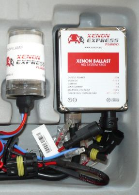 Xenon Express Turbo H4 - Ксенон система H4 само къси за мотор AC тип 55W - 450% светлина, големи баласти, 12 м. пълна гаранция
