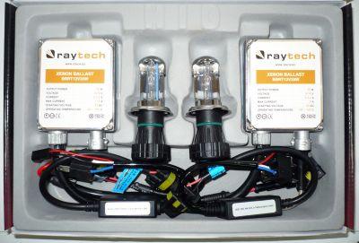 RayTech H4 - Ксенон система H4 биксенон за кола AC тип 35W - 300% светлина, големи баласти, 24 м. пълна гаранция
