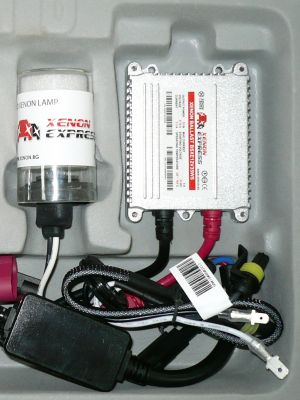 Xenon Express HB1/9004 - Ксенон система HB1/9004 ксенон+халоген за мотор AC тип 35W - 300% светлина, малки баласти, 12 м. пълна гаранция