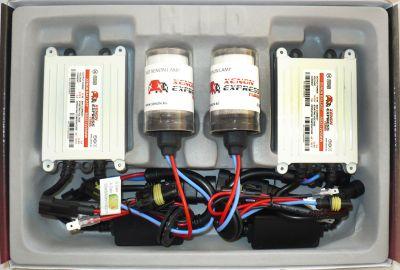 Xenon Express Turbo H4 - Ксенон система H4 ксенон+халоген за камион (автобус) 24V AC тип 55W - 450% светлина, малки баласти, 12 м. пълна гаранция