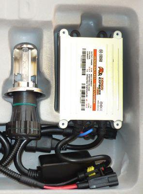 Xenon Express Turbo H13/9008 - Ксенон система H13/9008 биксенон за мотор AC тип 55W - 450% светлина, малки баласти, 12 м. пълна гаранция